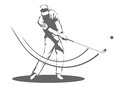 Golfer man illustration of a swinging a golf club Stock Photography