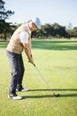 Golfer preparing his shot Royalty Free Stock Photo