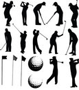 Golfer vector set Royalty Free Stock Photography