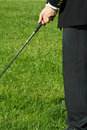 Golfing businessman Royalty Free Stock Image