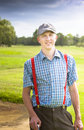 Golfing Lifestyle Portrait Royalty Free Stock Photo