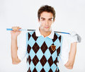 Golfing in style Stock Photo