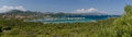 Golfo di marinella sardinia italy panoramic view of bay in Stock Photos