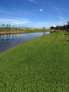 Golfplatz im Bau Stockfotografie