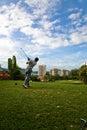 Golfswing Arkivfoto