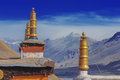 Gompa tibetan on sky background Stock Image