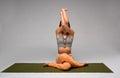 Gomukhasana yoga pose Royalty Free Stock Photo