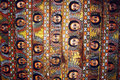 Gondar ceiling the historic cathedral of in ethiopia Royalty Free Stock Images
