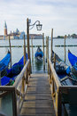 Gondola Boats on grand canal venice italy Stock Images