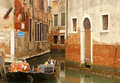 Gondola boats in Venice Stock Photos
