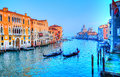 Gondola on canal, Venice - Italy Royalty Free Stock Photo
