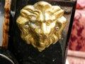 Gondola detail, lion Royalty Free Stock Photo
