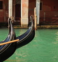 Gondola detail (Venice, Italy) Royalty Free Stock Photo