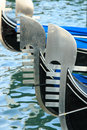 Gondola details venice canal grande Stock Image