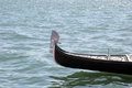 Gondola front of floating in adriatic sea Royalty Free Stock Photography