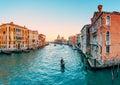 Gondola on grand canal in venice italy Royalty Free Stock Photos
