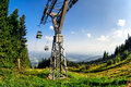 Gondola lift in Schockl Stock Photos
