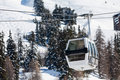 Gondola lift on ski resort Royalty Free Stock Image