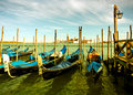 Gondola parking, Venice Stock Photography