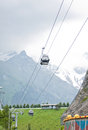 Gondola in the Rocky Mountains Stock Image