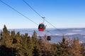 Gondola ski lift Royalty Free Stock Photo