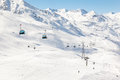 Gondola ski lifts ski resort hochgurgl austrian alps Royalty Free Stock Image
