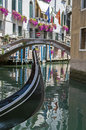 Gondola in Venice. Royalty Free Stock Images