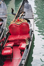 Gondola in a venice canal close up Royalty Free Stock Photography
