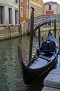 Gondola in venice a canal of italy Royalty Free Stock Photo