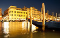 Gondola in venice grand canale of the evening italy Stock Images