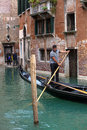Gondola venice italy may view of typical in venice lagoon on may Stock Photography