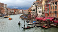 Gondola venice s on the grand canal in Stock Photos