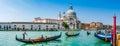 Gondolas on Canal Grande with Basilica di Santa Maria, Venice, Italy Royalty Free Stock Photo