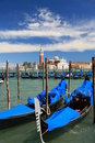 Gondolas on the Grand Canal in Venice Royalty Free Stock Photography