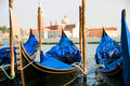 Gondolas Grand Canal Venice italy Stock Image