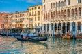 Gondolas at Grand Canal in Venice, Italy Royalty Free Stock Photo