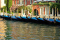 Gondolas parked Royalty Free Stock Images