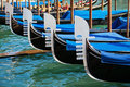 Gondolas in a row Royalty Free Stock Photography