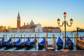 Gondolas and San Giorgio Maggiore island, Venice, Italy Royalty Free Stock Photo