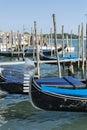 Gondolas in the sea of Venice ,Italy