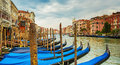 Gondolas on the Venetian canal,Venice,Italy Royalty Free Stock Photo