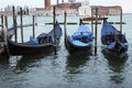 Gondolas in venice the iconic italy Stock Images