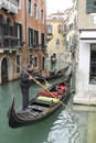 Gondolas in venice the iconic italy Royalty Free Stock Photo