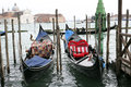 Gondolas in venice the iconic italy Stock Image