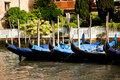 Gondolas in Venice in Italy Stock Photos