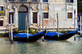 Gondolas in Venice in Italy Stock Photo