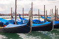 Gondolas in Venice, Italy. Stock Photos