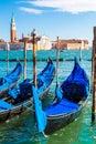 Gondolas in venice italy a summer day Royalty Free Stock Photos