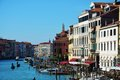 Gondolas, wooden poles, Grand Canal, Venice, Italy, Europe Royalty Free Stock Photo