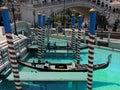 Gondole przy weneckimi kasynowymi lasami vegas Fotografia Royalty Free